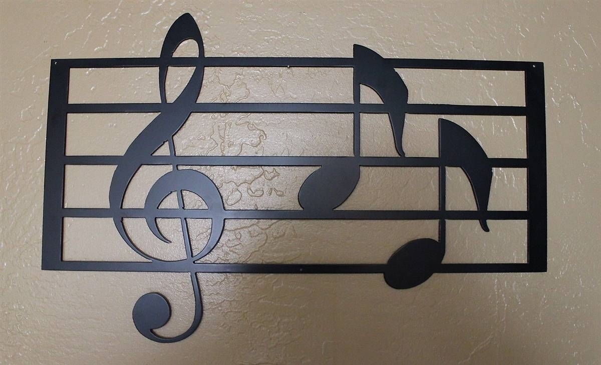 Music Scale With Notes Metal Wall Art For Most Recent Music Metal Wall Art (View 12 of 20)