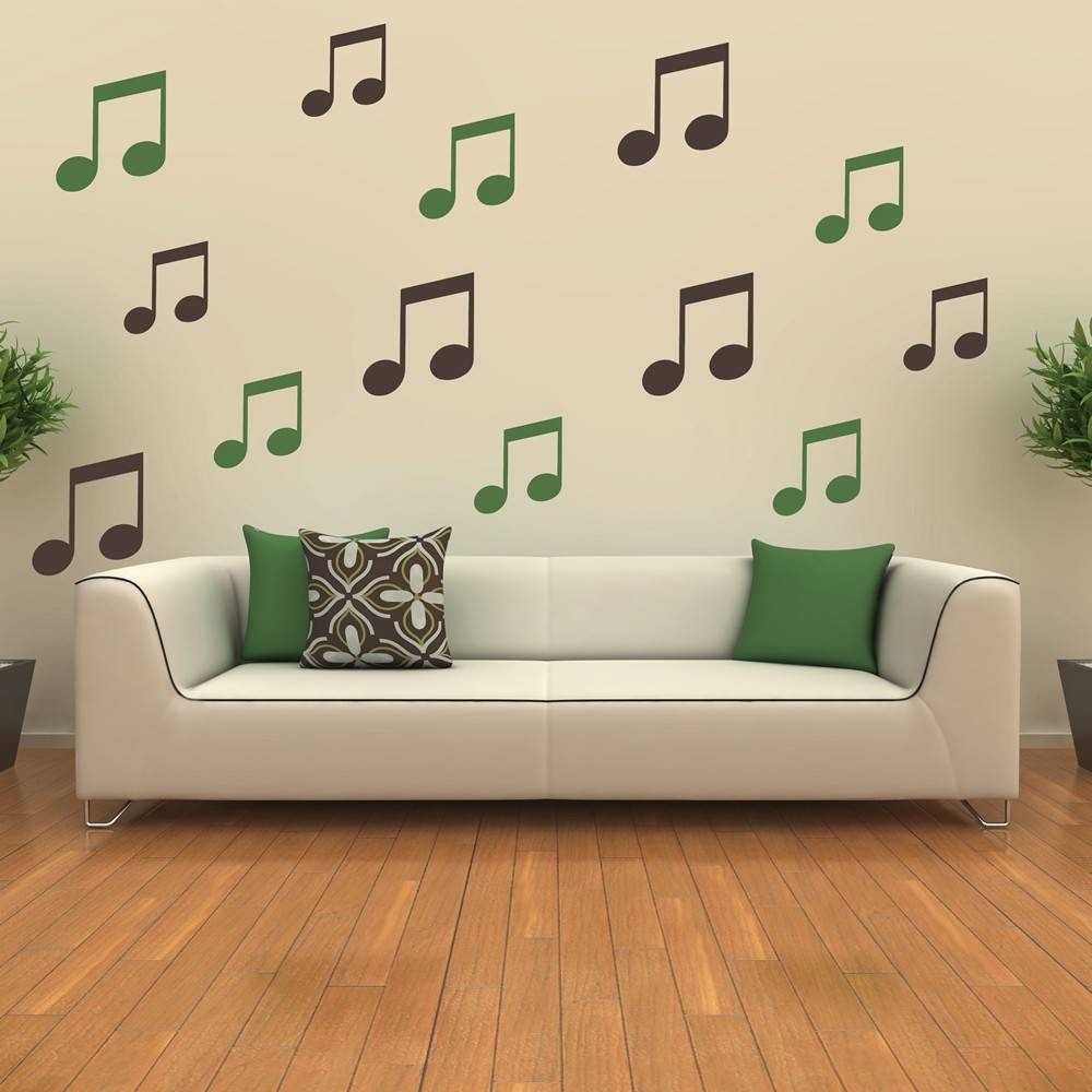 Musical Note Wall Stickers | Iconwallstickers.co (View 8 of 25)