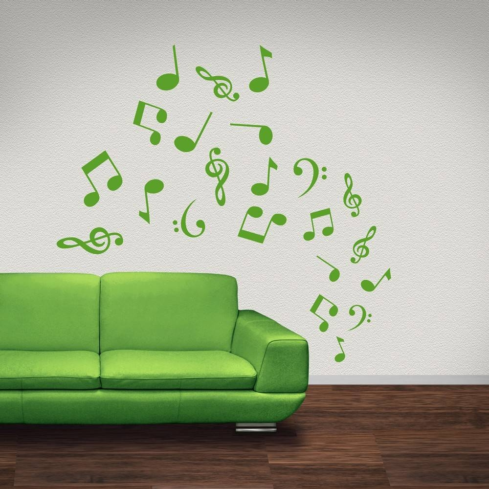 Musical Note Wall Stickers | Iconwallstickers.co (View 5 of 20)