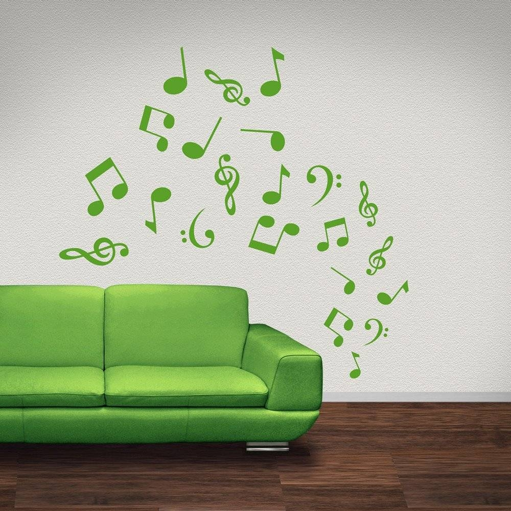 Musical Note Wall Stickers | Iconwallstickers.co (View 6 of 25)