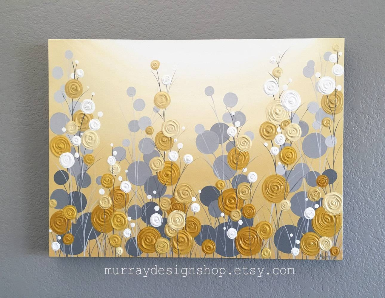 Mustard Yellow And Grey Wall Art Textured Painting Abstract In Most Recent Yellow And Blue Wall Art (View 11 of 20)