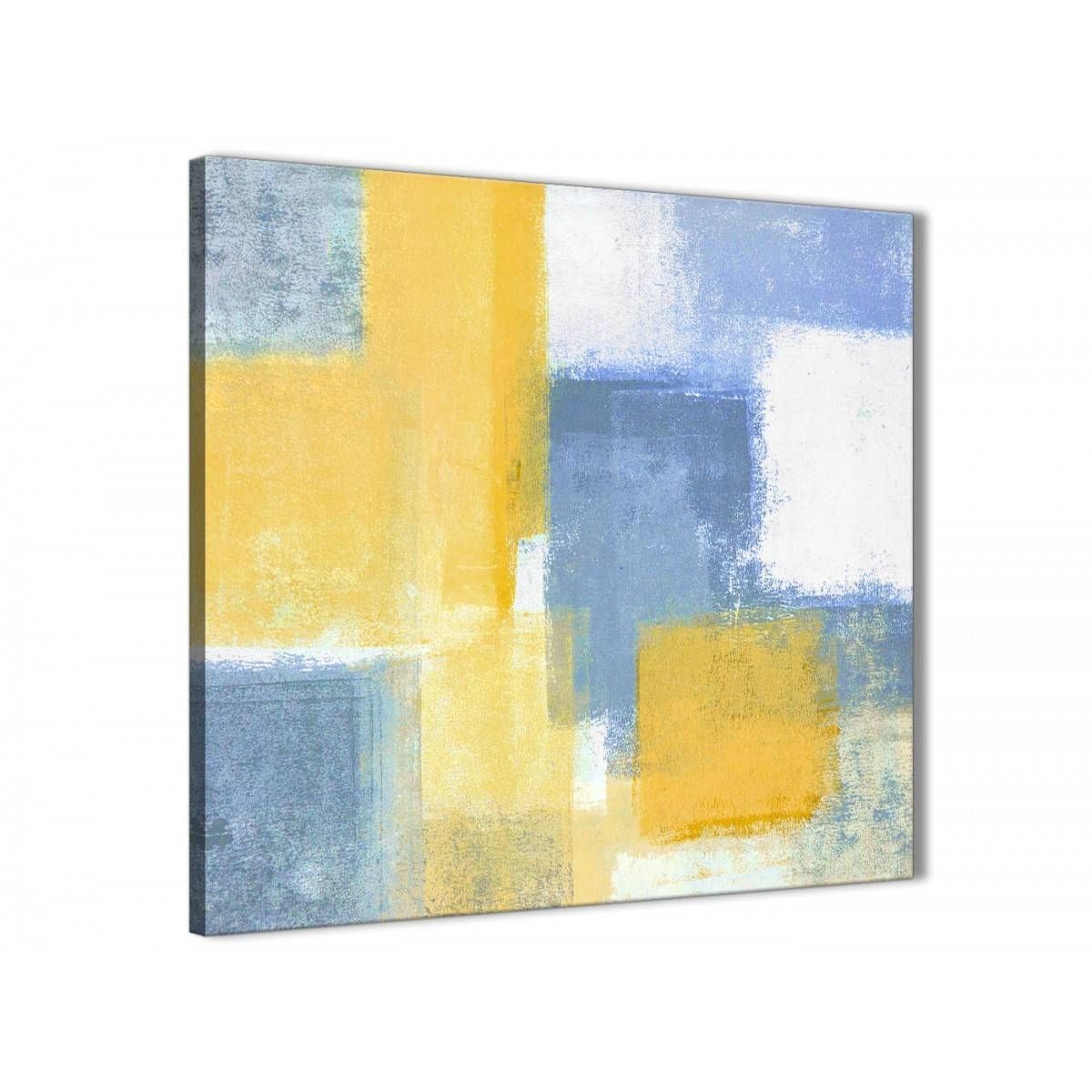 Mustard Yellow Blue Bathroom Canvas Wall Art Accessories Intended For Most Recently Released Yellow And Blue Wall Art (View 10 of 20)