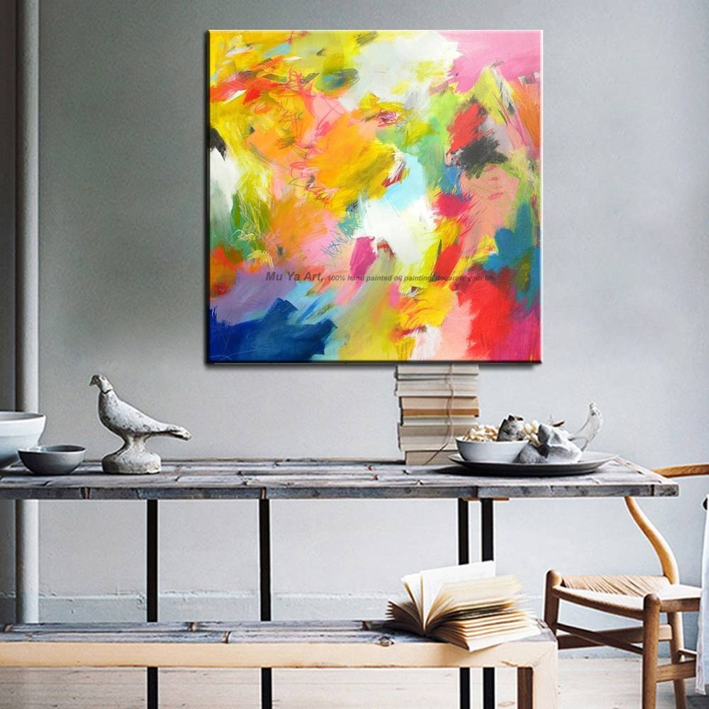 Muya Artist Supply Cheap Modern Painting Abstract Wall Art Canvas With Regard To Most Up To Date Cheap Abstract Wall Art (View 12 of 20)
