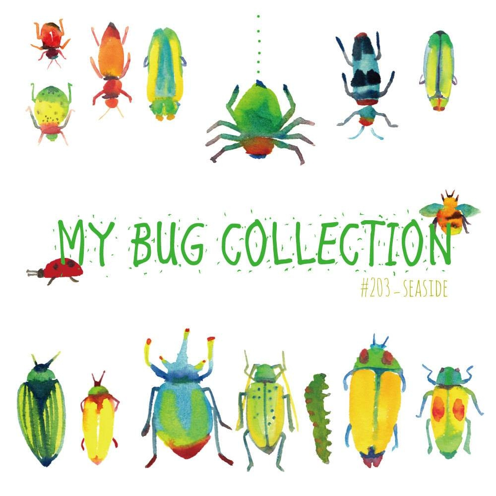 My Bug Collection Watercolor Clip Art Bugsinsectwall For Recent Insect Wall Art (View 17 of 30)