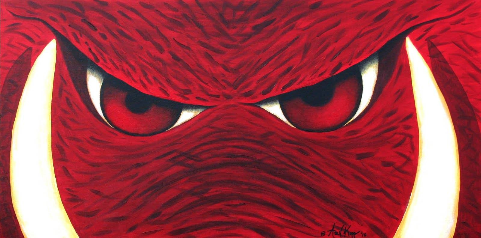 My Journey Creating: Arkansas Razorbacks Wall Art Intended For Recent Razorback Wall Art (View 18 of 25)