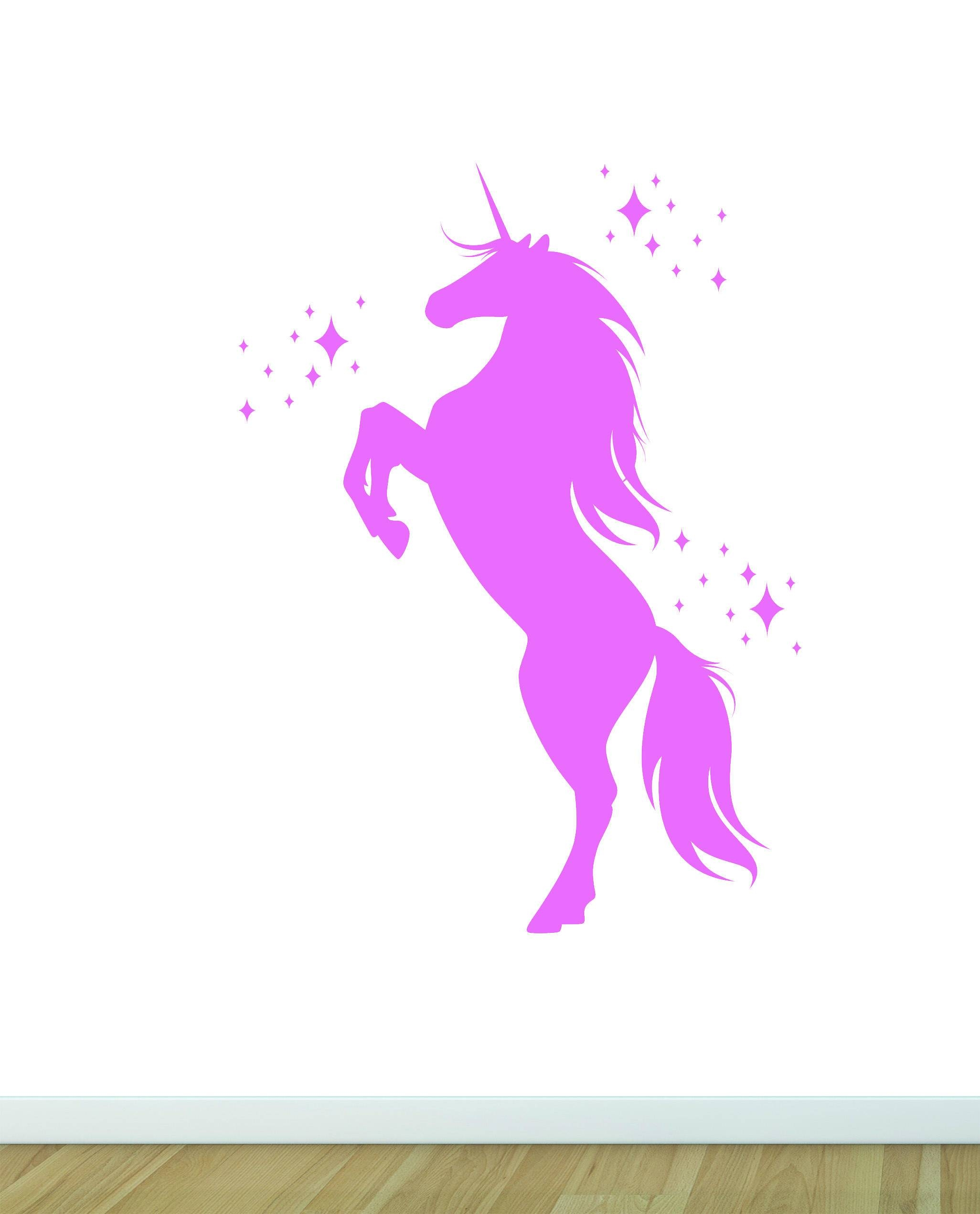 Mythical Unicorn Wall Sticker Decal Fantasy Magical Full Color Within Most Recent 3d Unicorn Wall Art (View 11 of 20)