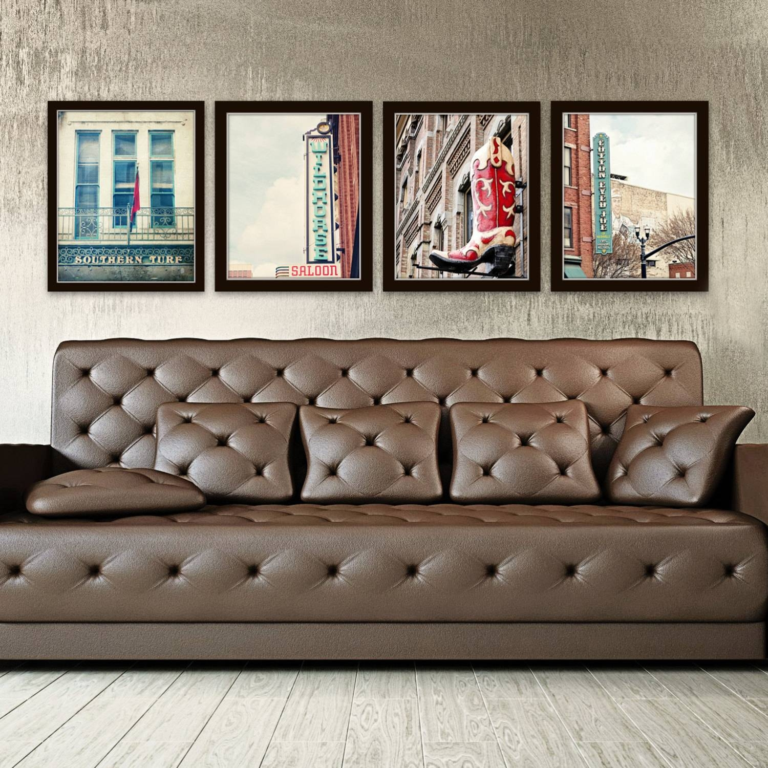 Nashville Wall Art Industrial Decor City Photography Set Of 4 For Recent Vintage Industrial Wall Art (View 10 of 20)