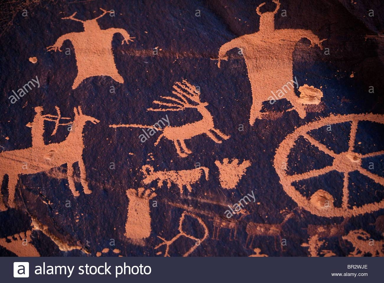 Native American Cave Art/wall Drawings Stock Photo, Royalty Free In Newest Native American Wall Art (View 20 of 25)