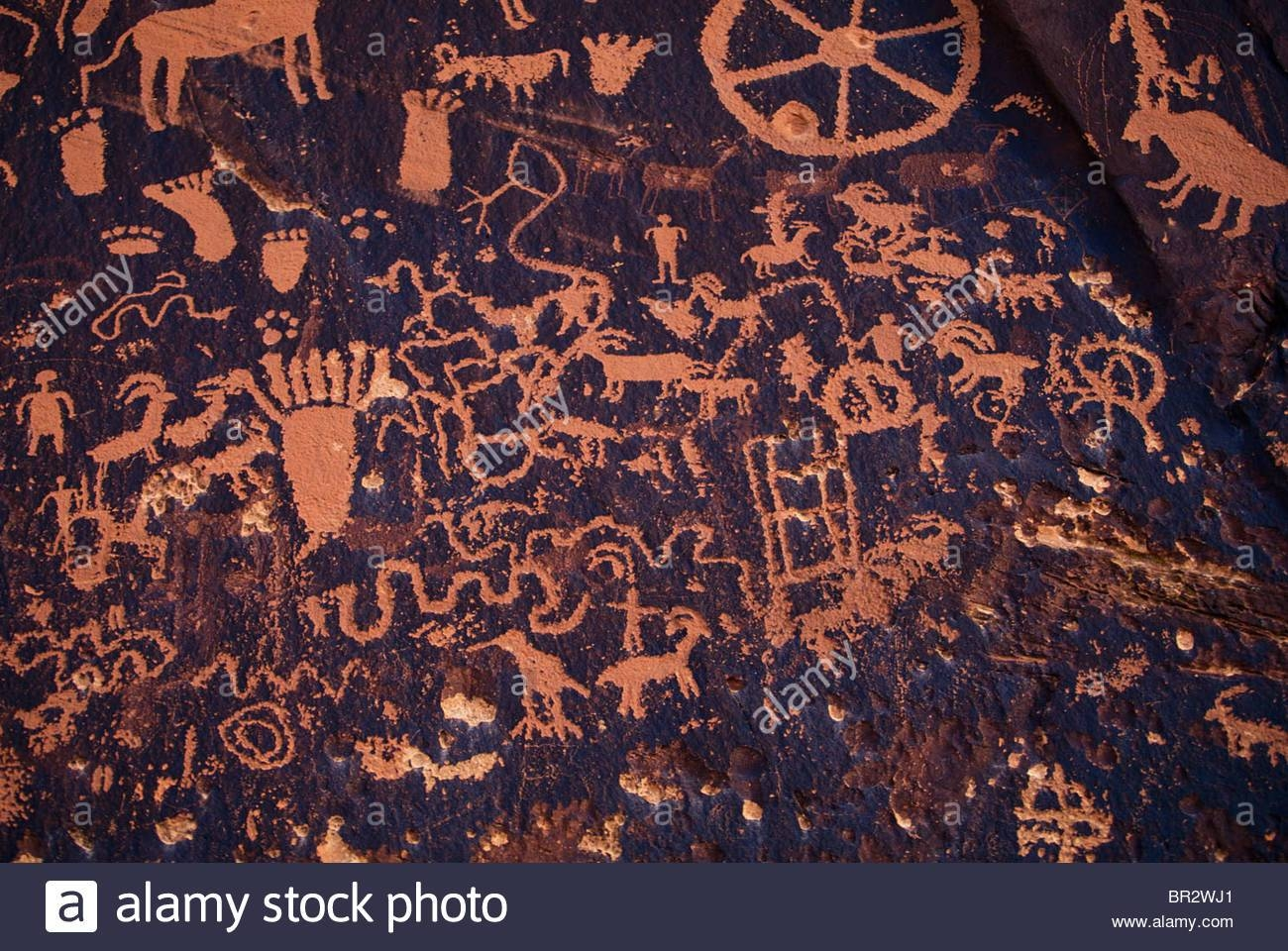 Native American Cave Art/wall Drawings Stock Photo, Royalty Free Pertaining To Newest Native American Wall Art (View 16 of 25)