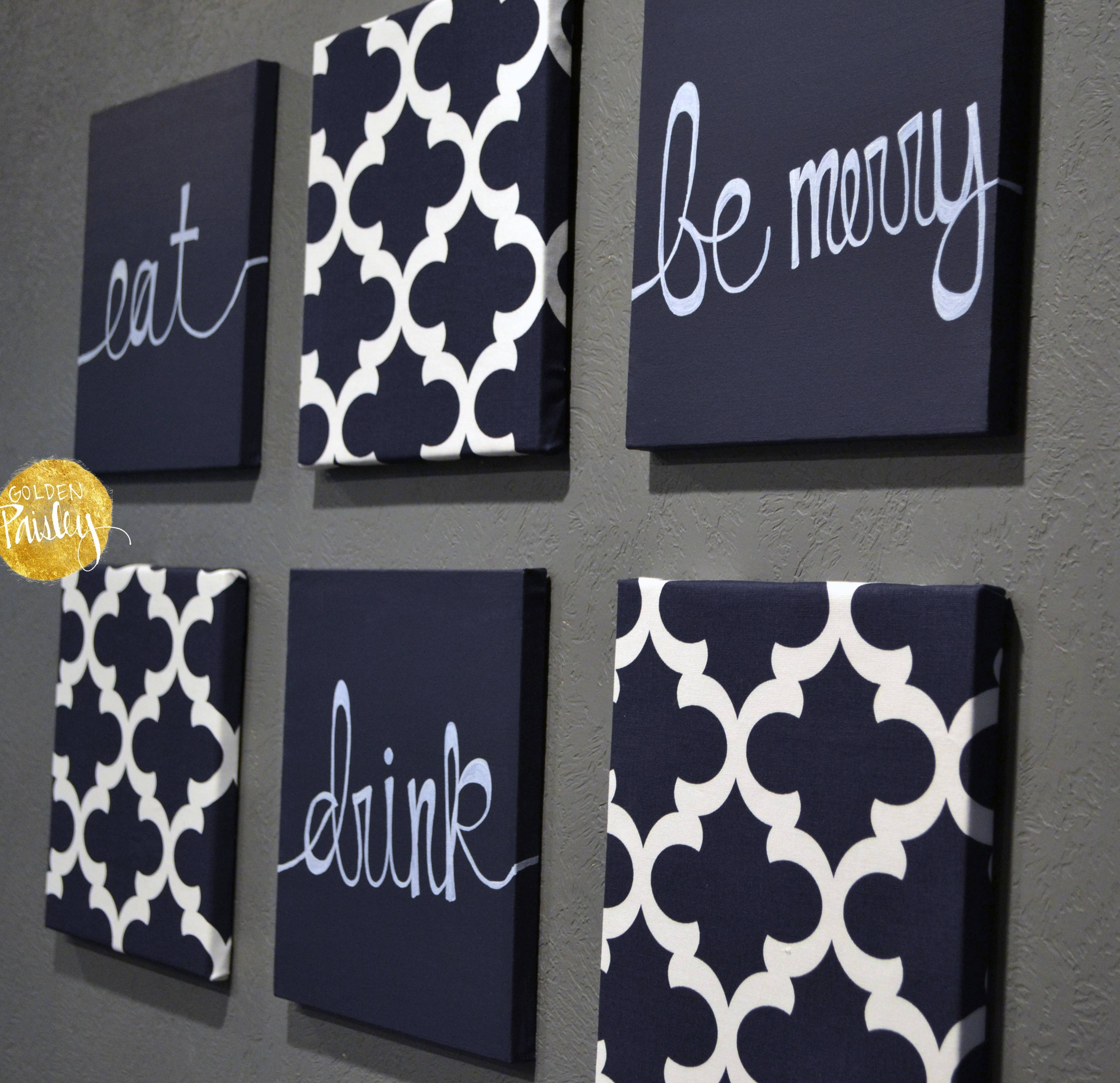 Navy Blue Wall Art Set With Regard To 2017 Blue Wall Art (View 5 of 20)