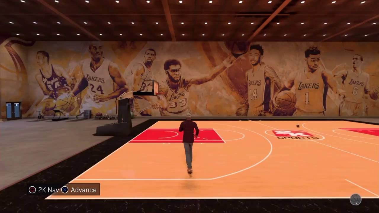 Nba 2K17 My Court Lakers Mural – Youtube In Newest Nba Wall Murals (Gallery 22 of 25)