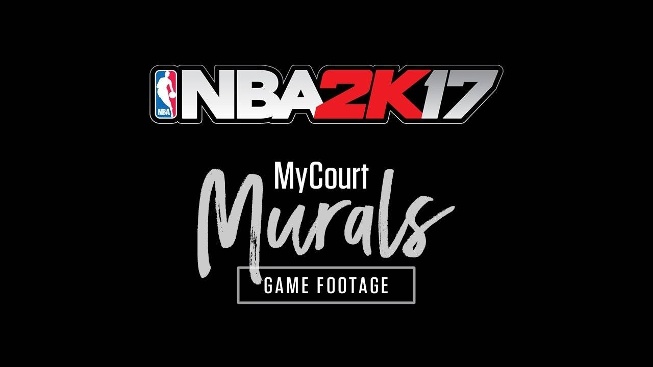 Nba 2K17 Mycourt Mural Designs - Game Footage - Youtube intended for Most Up-to-Date Nba Wall Murals