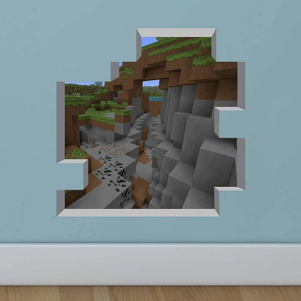 New Minecraft Wall Stickers | Boys Room | Wall Decals With Most Popular Minecraft 3D Wall Art (View 17 of 20)