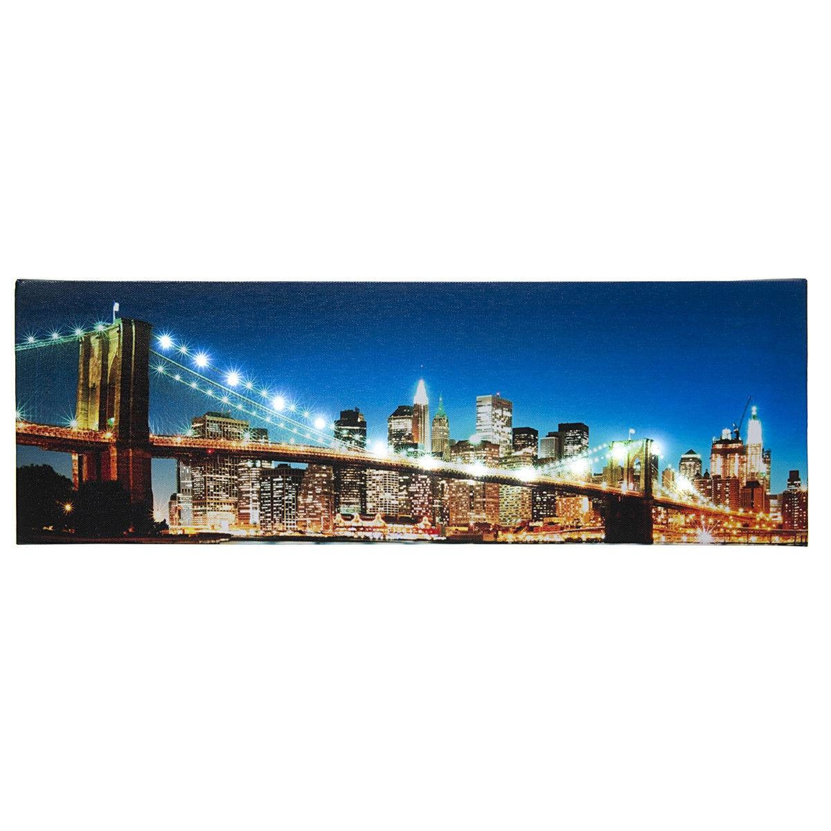 New York City Canvas | Ebay In Most Up To Date Brooklyn Bridge Metal Wall Art (View 18 of 25)