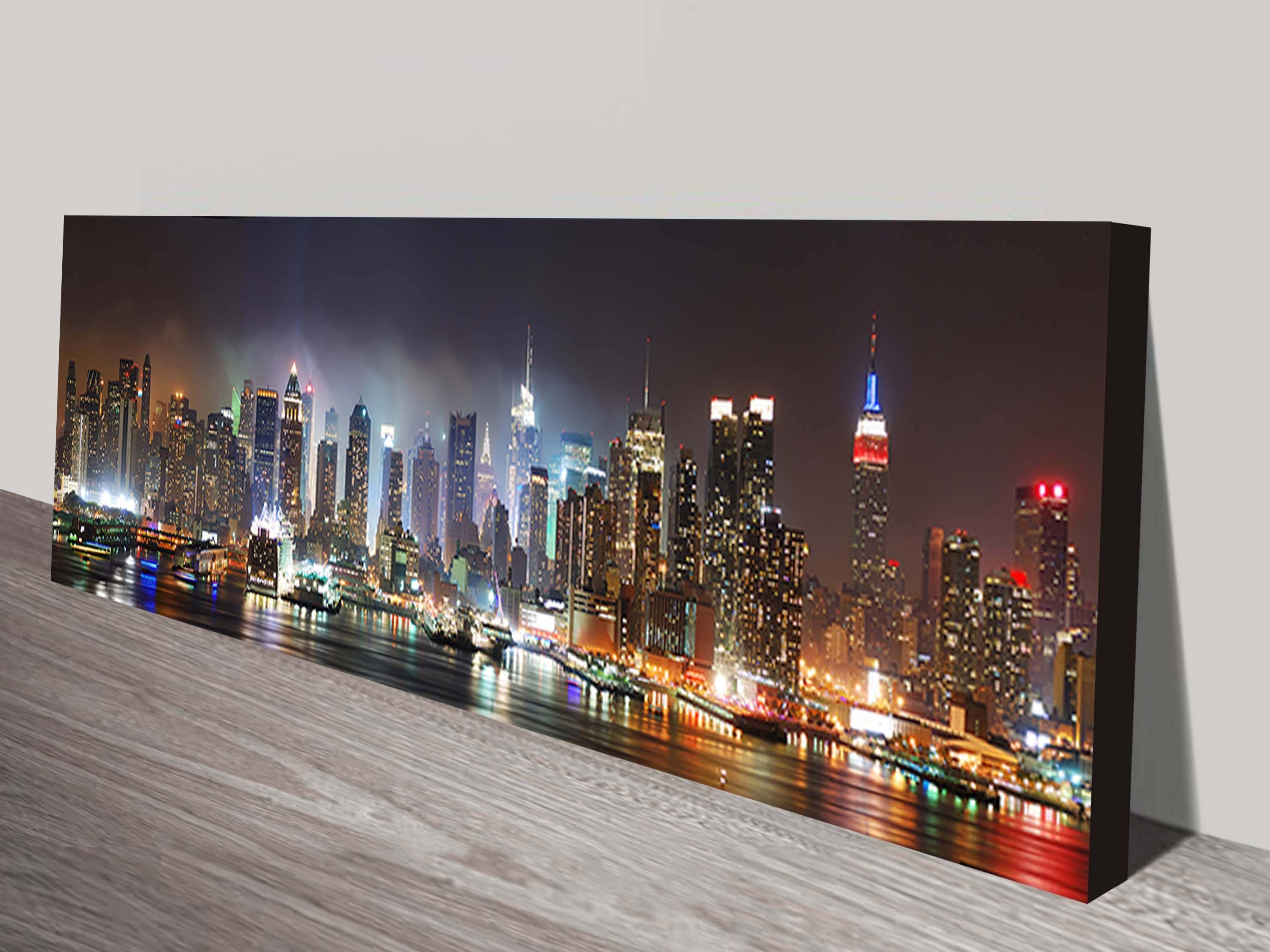 New York Skyline Canvas Wall Print On Canvas For 2017 New York Skyline Canvas Black And White Wall Art (View 9 of 20)