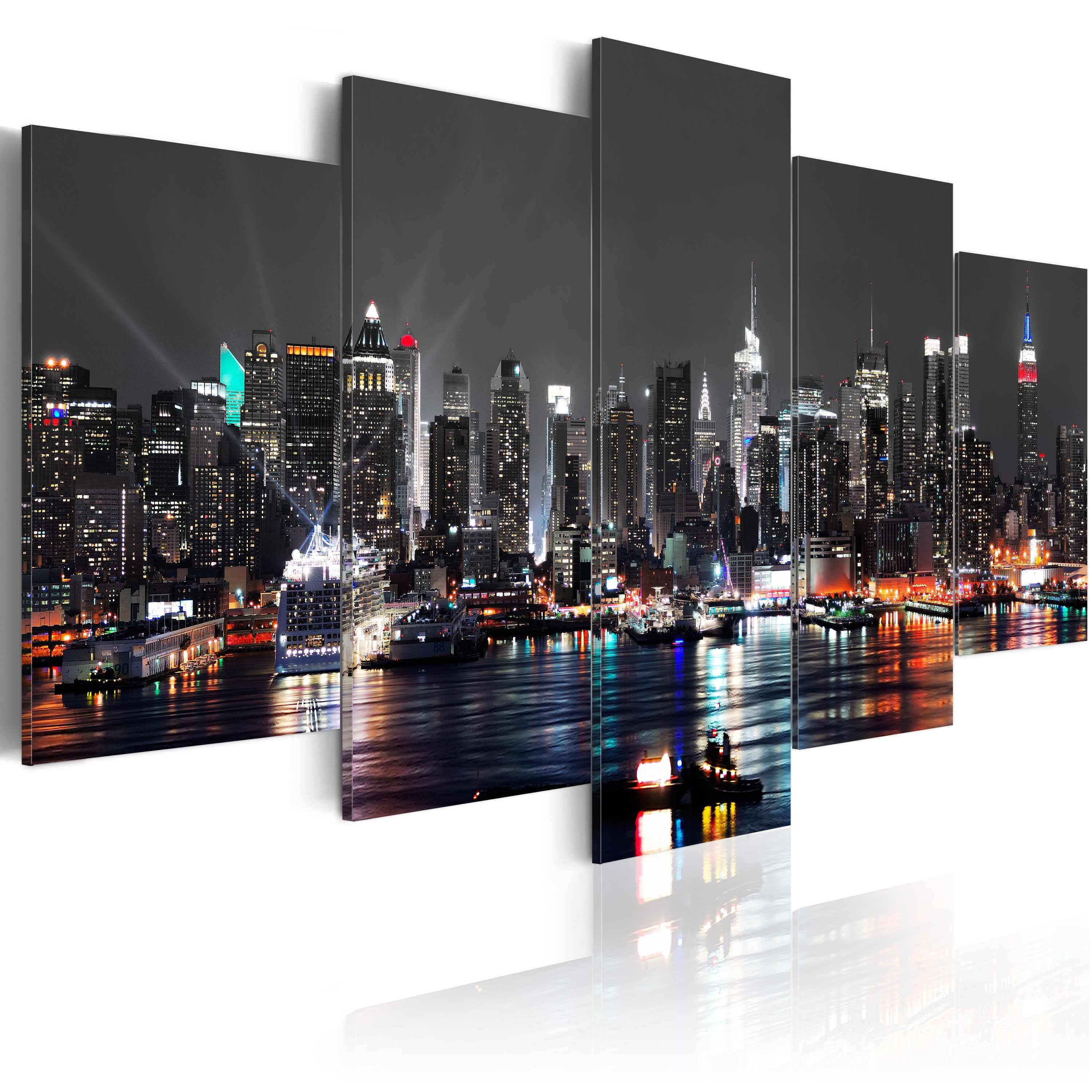 New York Wall Pictures | Ebay With Regard To Most Popular New York Skyline Canvas Black And White Wall Art (View 11 of 20)