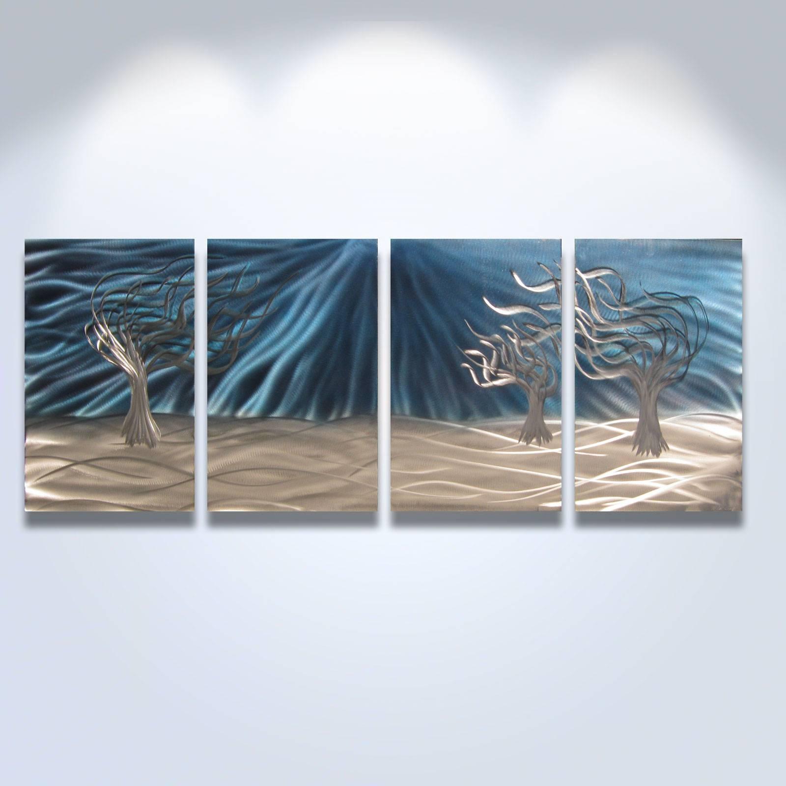 Nice Design Blue Metal Wall Art Homey Ideas Ash Carl Hydrodynamic Pertaining To Newest Ash Carl Metal Wall Art (View 19 of 30)