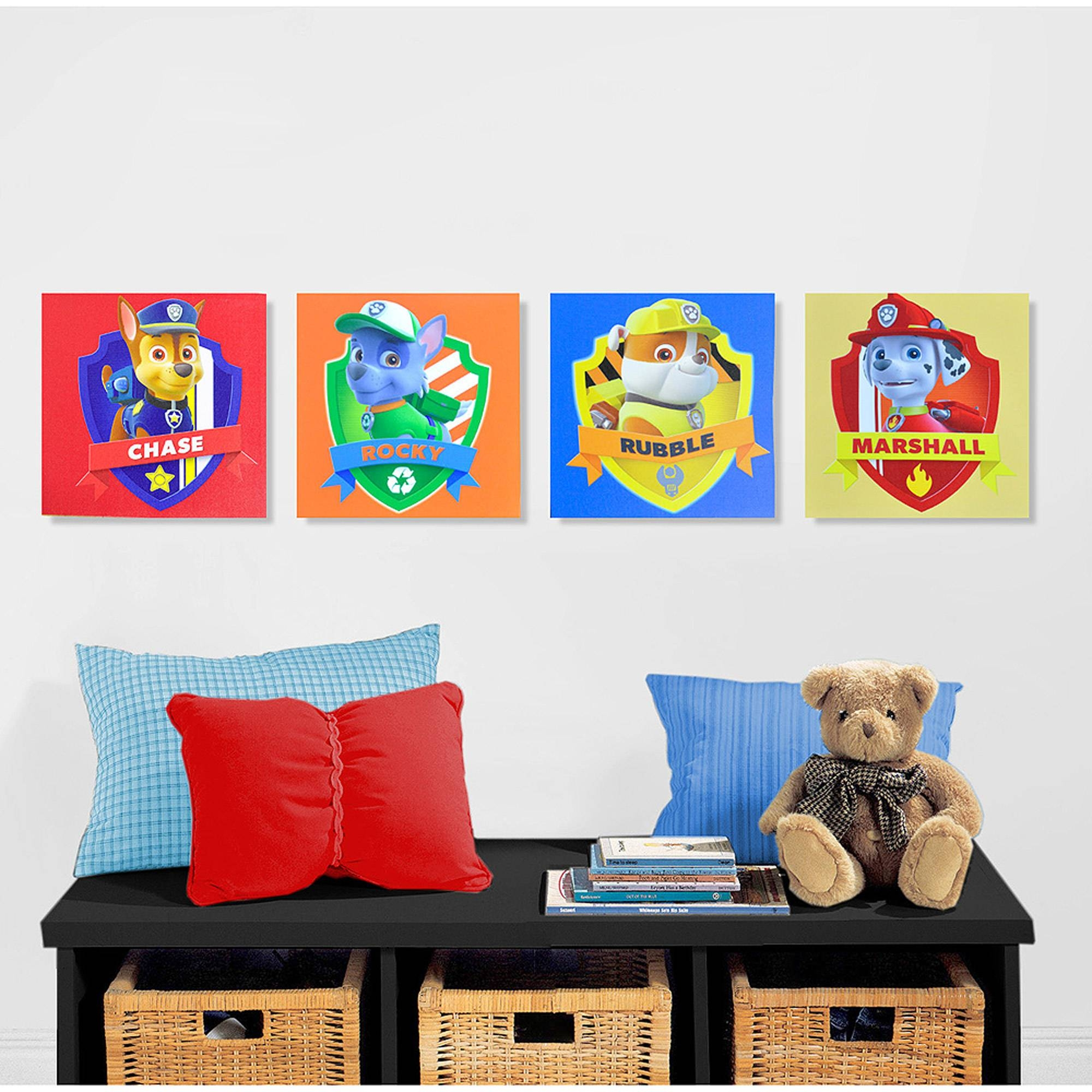 Nickelodeon Paw Patrol 4 Piece Canvas Wall Art – Walmart With Regard To Most Recent Childrens Wall Art Canvas (View 20 of 20)