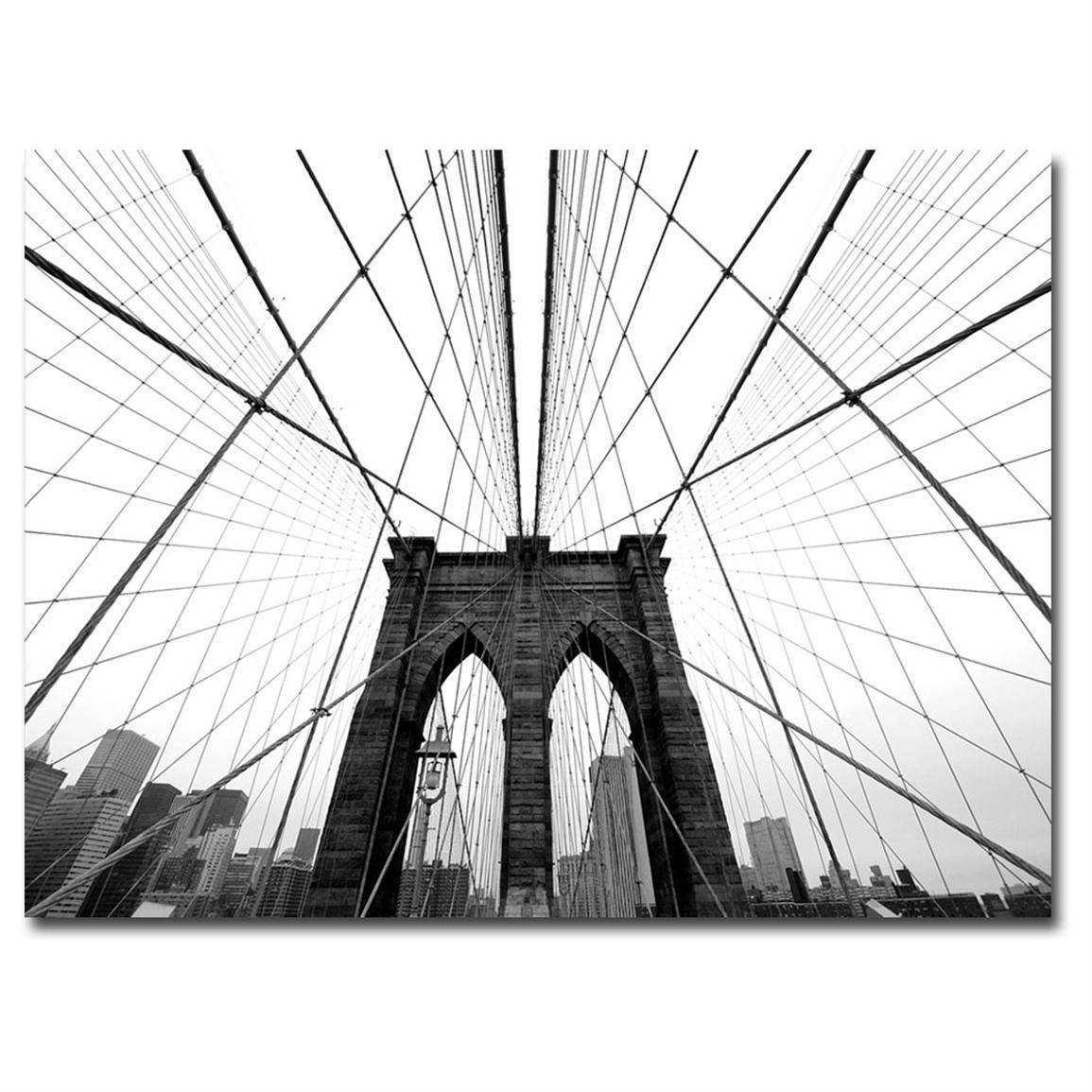 "Nina Papiorek ""nyc Brooklyn Bridge"" Canvas Wall Art – 236032, Wall For Most Recently Released Brooklyn Bridge Metal Wall Art (View 19 of 25)"