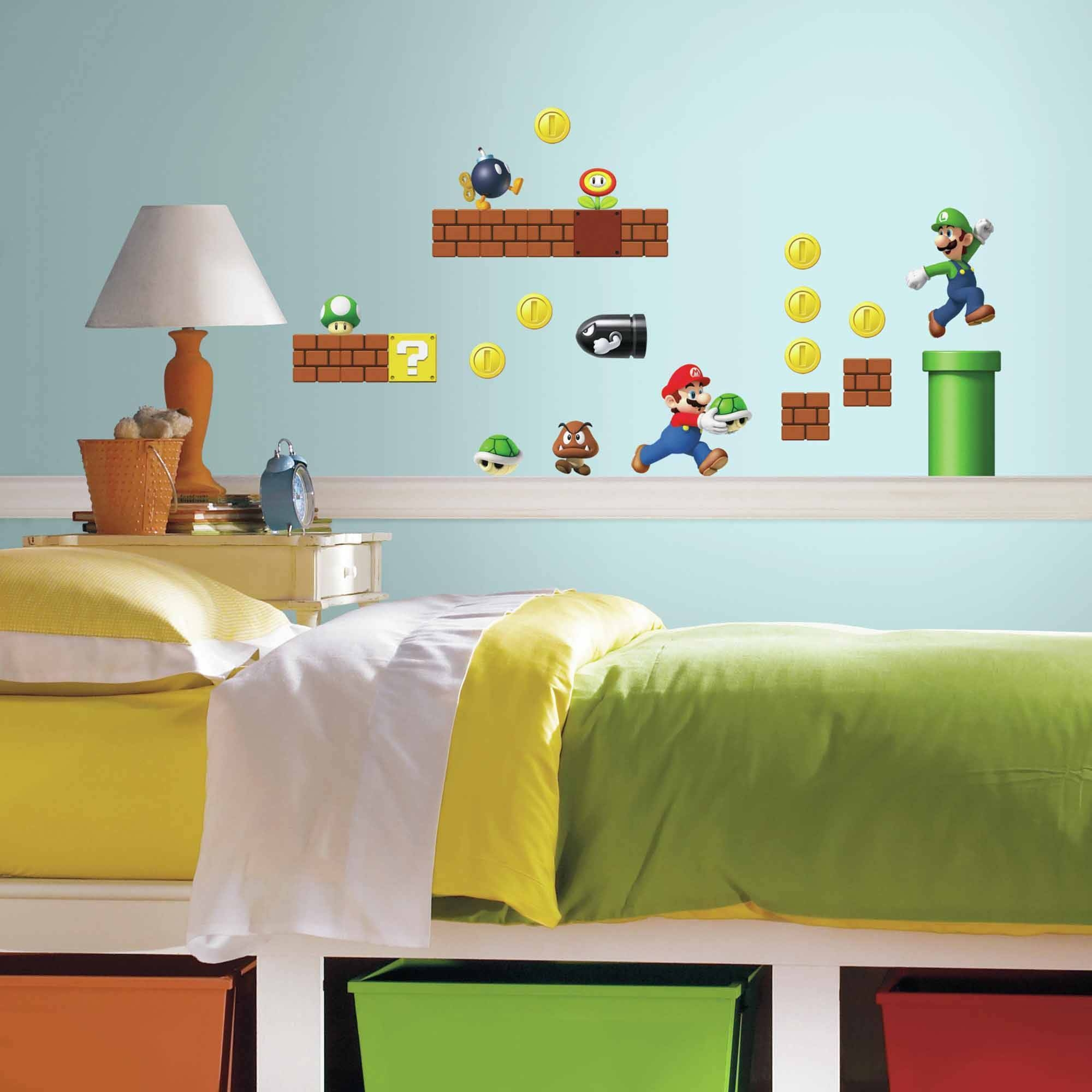 Nintendo Super Mario Build A Scene Peel And Stick Wall Decals In Latest Preschool Classroom Wall Decals (View 15 of 30)