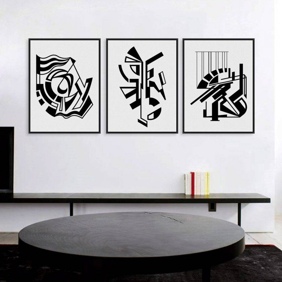 Nordic Black And White Symbol Black And White Wall Art For Living In 2018 Black And White Framed Wall Art (View 14 of 20)