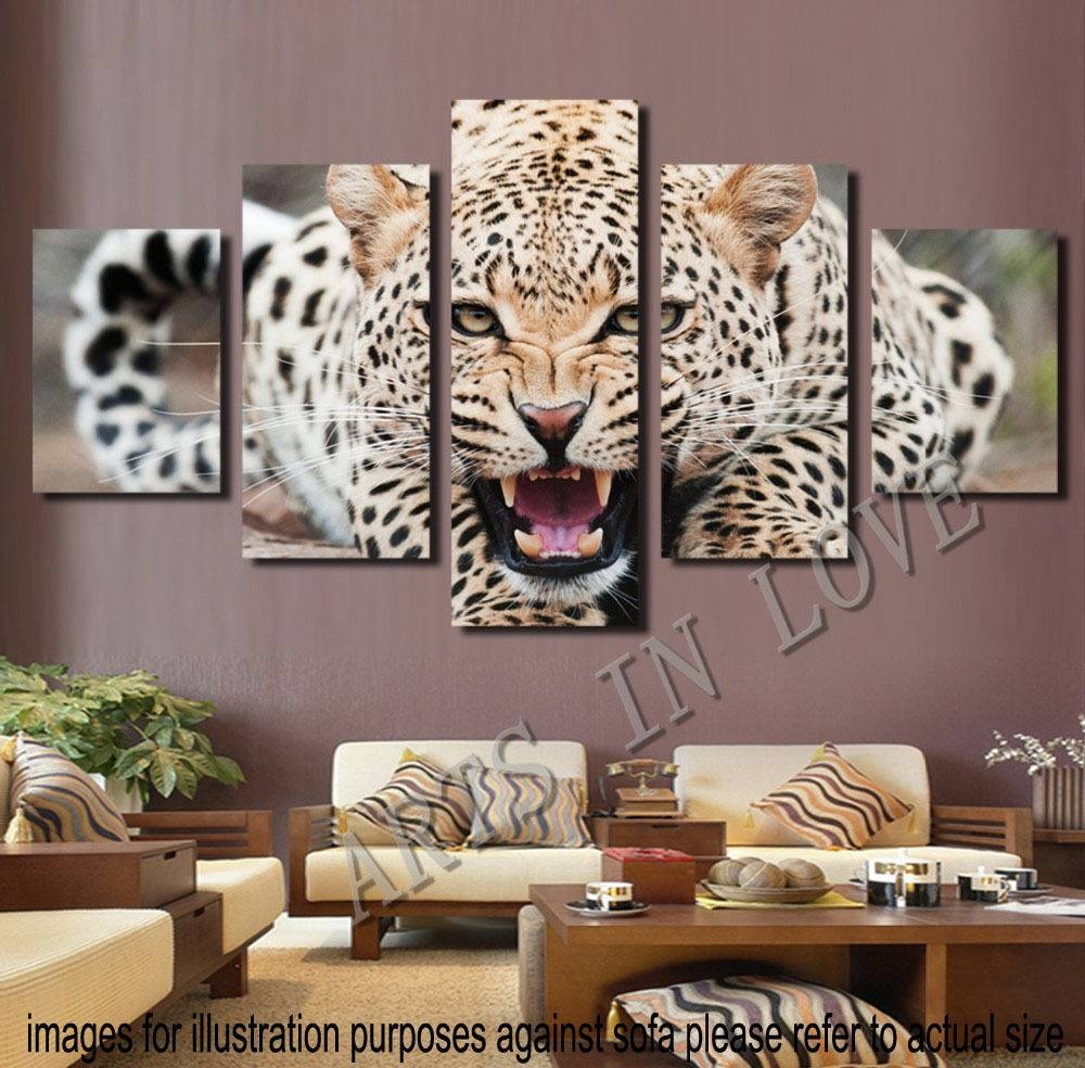 25 the best leopard print wall art. Black Bedroom Furniture Sets. Home Design Ideas