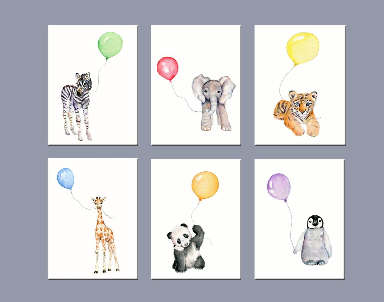 Nursery Art Animals Nursery Wall Decor Zoo Animal Nursery Intended For Recent Nursery Wall Art (View 12 of 20)
