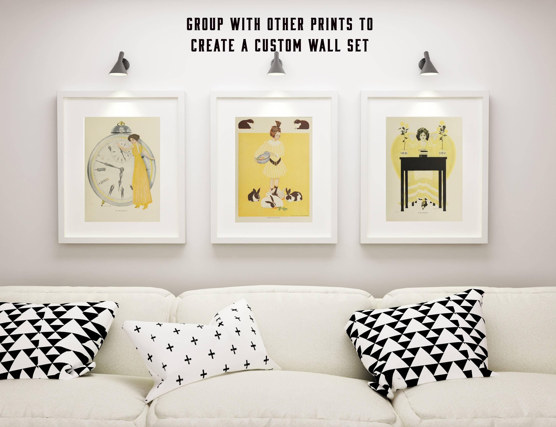 Nursery Framed Wall Art, Art For Girls Bedroom, Nursery Bunny in Best and Newest Nursery Framed Wall Art