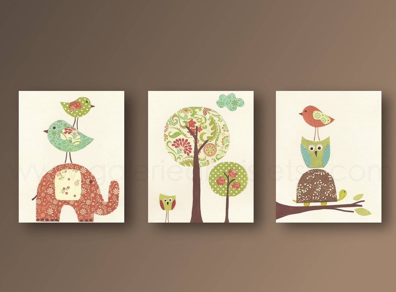 Nursery Wall Art Nursery Art Baby Nursery Kids Room Decor Owl With Newest Nursery Wall Art (View 14 of 20)