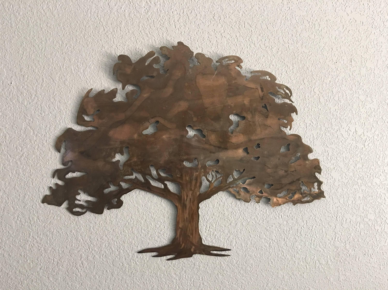 Oak Tree – Metal Tree Art – Wall Art For 2017 Metal Oak Tree Wall Art (View 17 of 30)