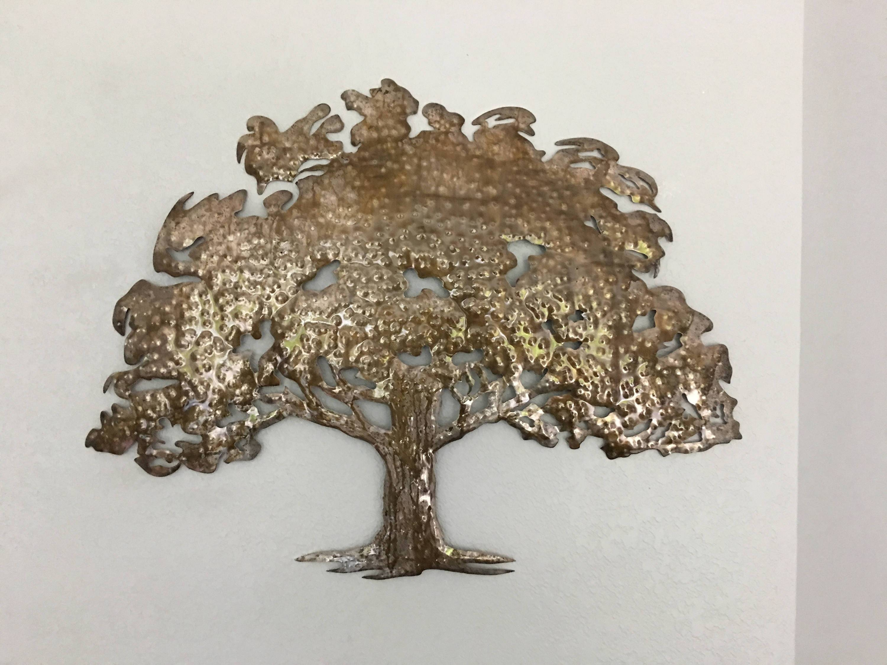 Oak Tree – Metal Tree Art – Wall Art Regarding Most Current Oak Tree Wall Art (View 14 of 30)