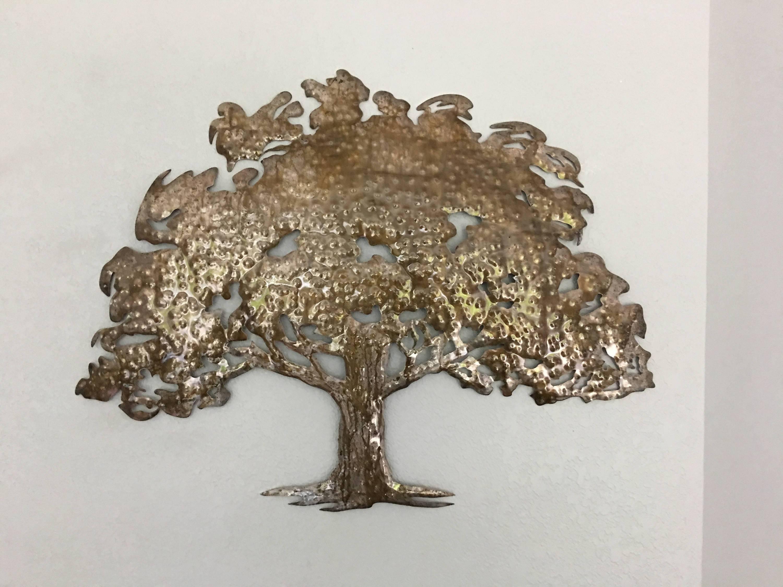 Oak Tree – Metal Tree Art – Wall Art Regarding Most Current Oak Tree Wall Art (View 17 of 30)