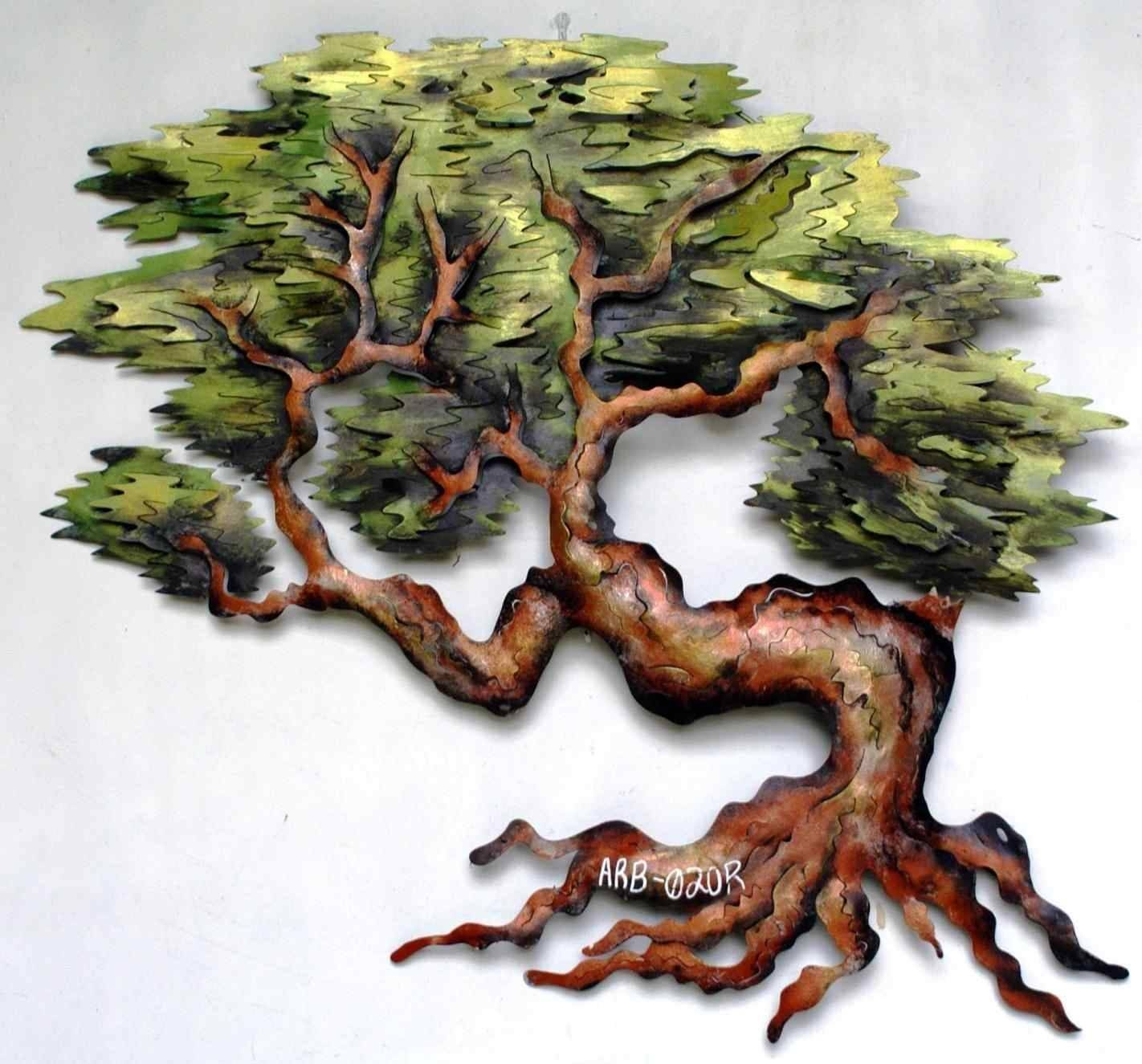 Oak Tree Metal Wall Art | Home Interior Decor For Recent Oak Tree Wall Art (View 16 of 30)