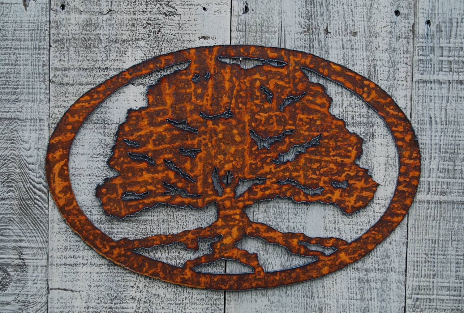 Oak Tree Rusty Metal Wall Art Intended For Newest Oak Tree Wall Art (View 19 of 30)