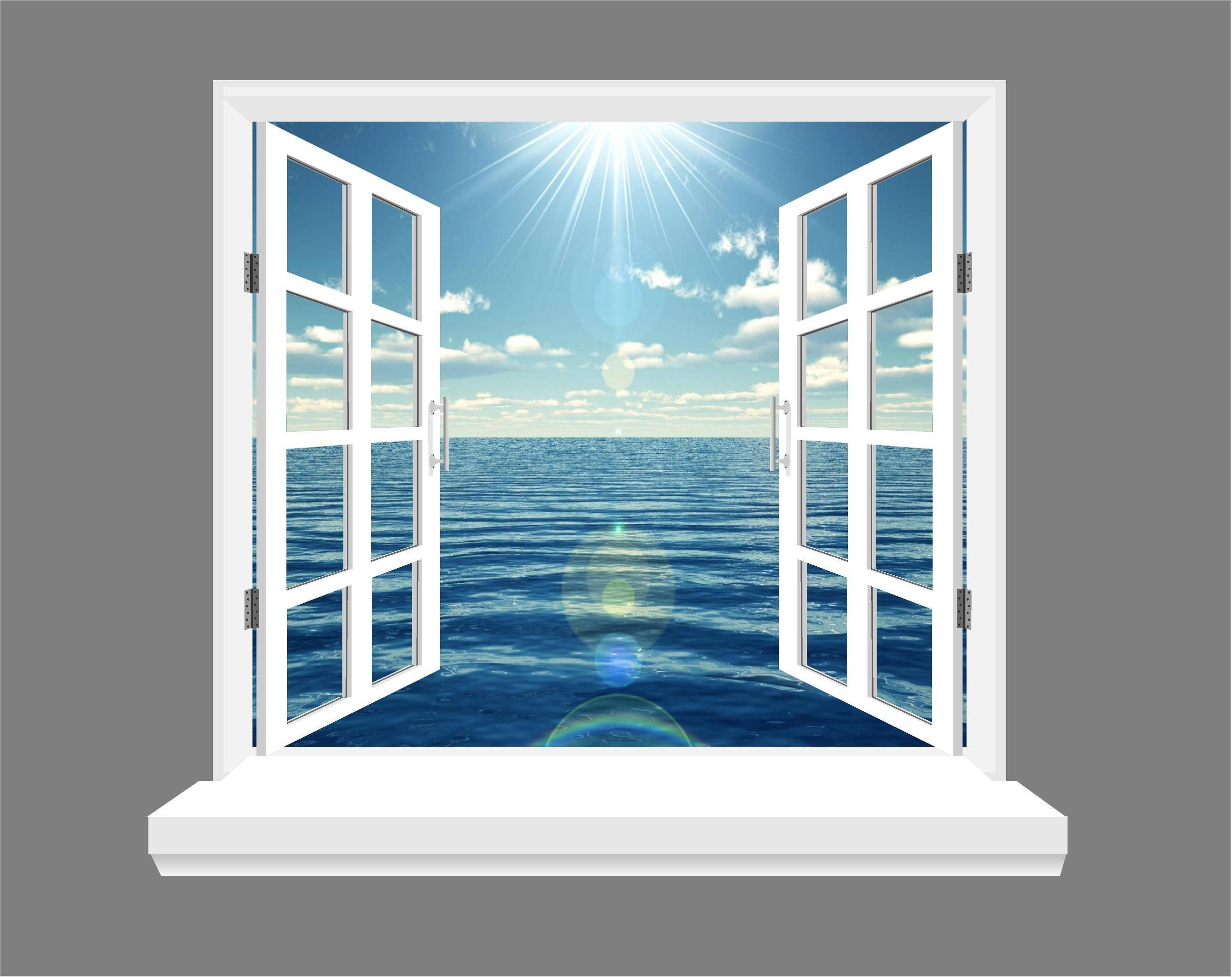 Ocean And Blue Skies 3d Window View Wall Art Sticker For 2017 3d Wall Art Window (View 2 of 20)