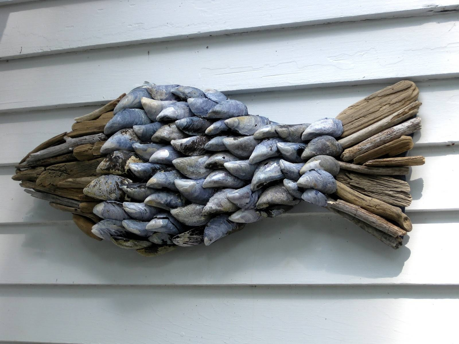 Of Sage And Sepia Driftwood And Shell Wall Hanging Regarding Intended For Current Driftwood Wall Art (View 26 of 30)