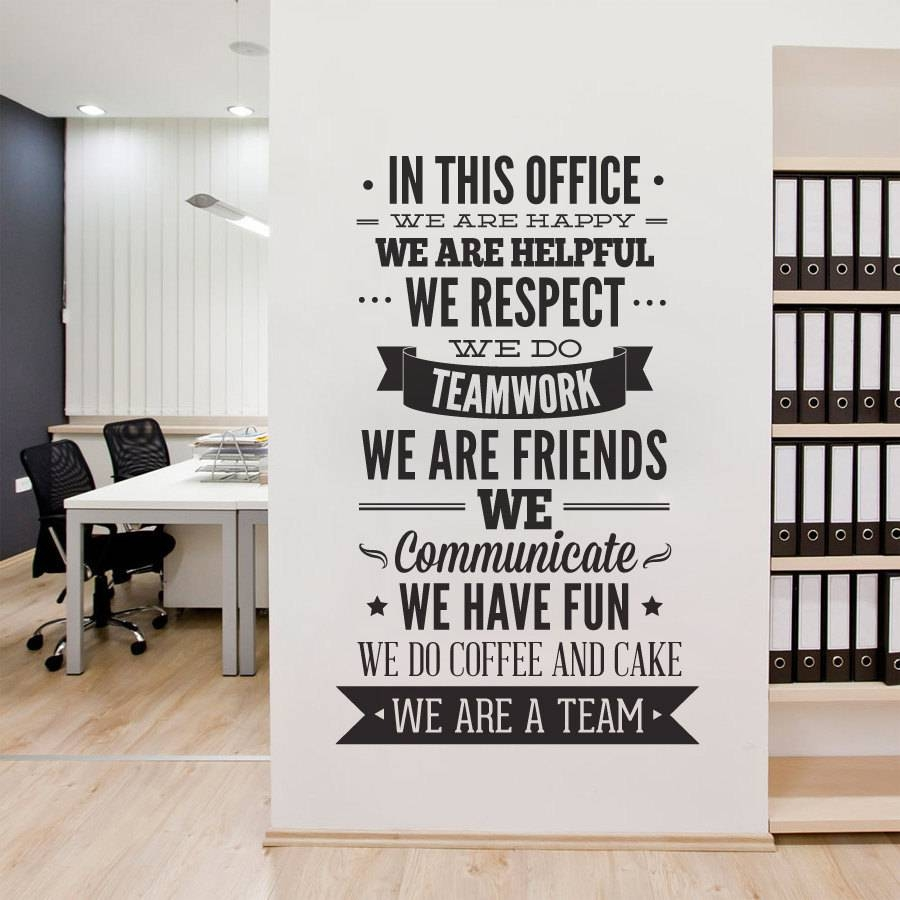 Office Decor Typography In This Office Ultimate Typography With Regard To Most Popular Inspirational Wall Decals For Office (View 9 of 20)