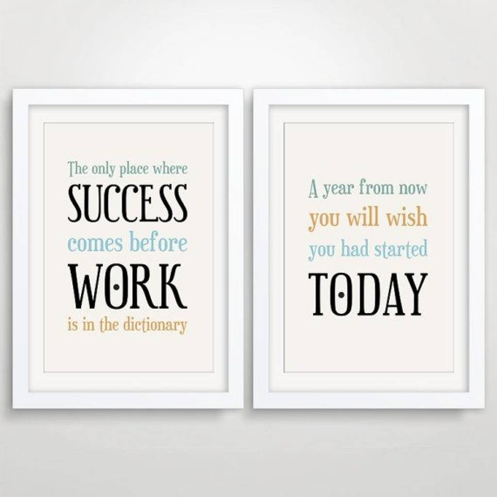Office Wall Art Inspirational Quotes (View 14 of 20)