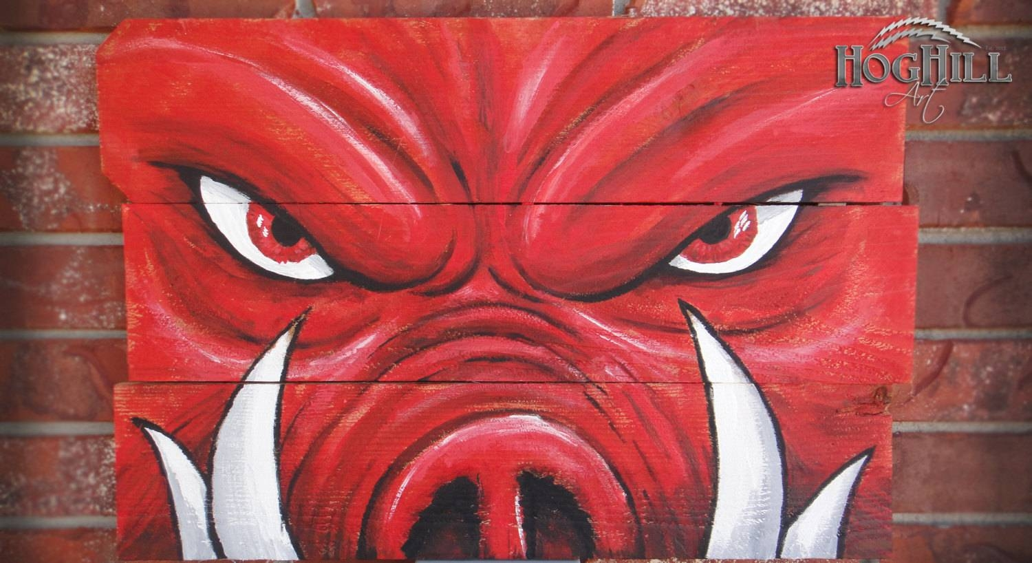 Official Arkansas Razorback Painting Tusks On Pertaining To Latest Razorback Wall Art (View 19 of 25)