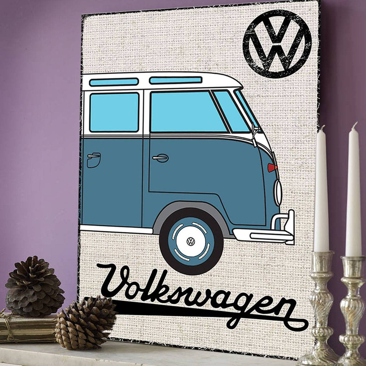 Official Vw Blue Campervan Metal Wall Art Plaque / Sign 41cm X With 2018 Campervan Metal Wall Art (View 15 of 20)