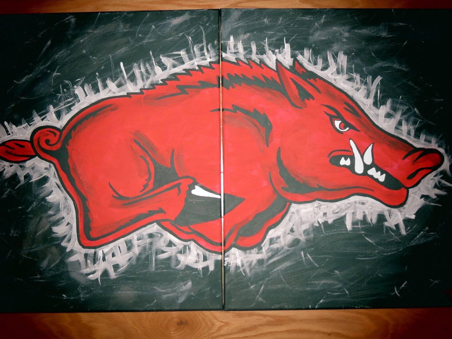 Officially Licensed Arkansas Razorback Paintings Free Throughout Latest Razorback Wall Art (Gallery 16 of 25)