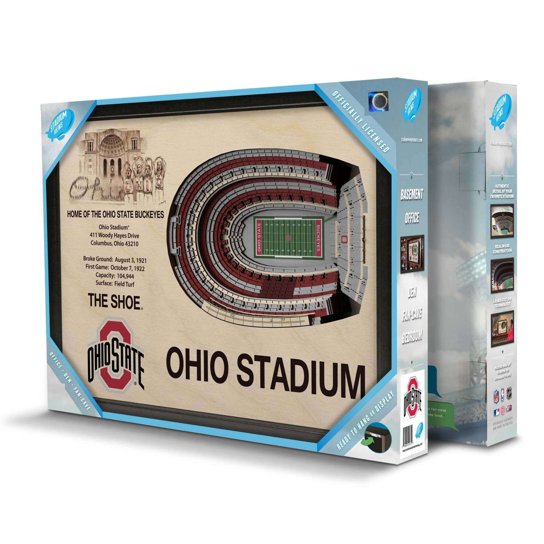 Ohio State Buckeyes Stadiumview Wall Art – Ohio Stadium 3 D Regarding Best And Newest 3d Stadium View Wall Art (View 6 of 20)