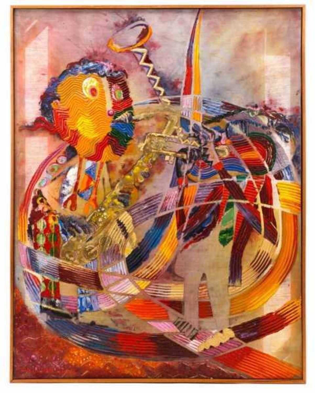 Oil Paintingnoted African American Artist Wadsworth Jarrell (B Intended For Best And Newest African American Wall Art (View 19 of 20)