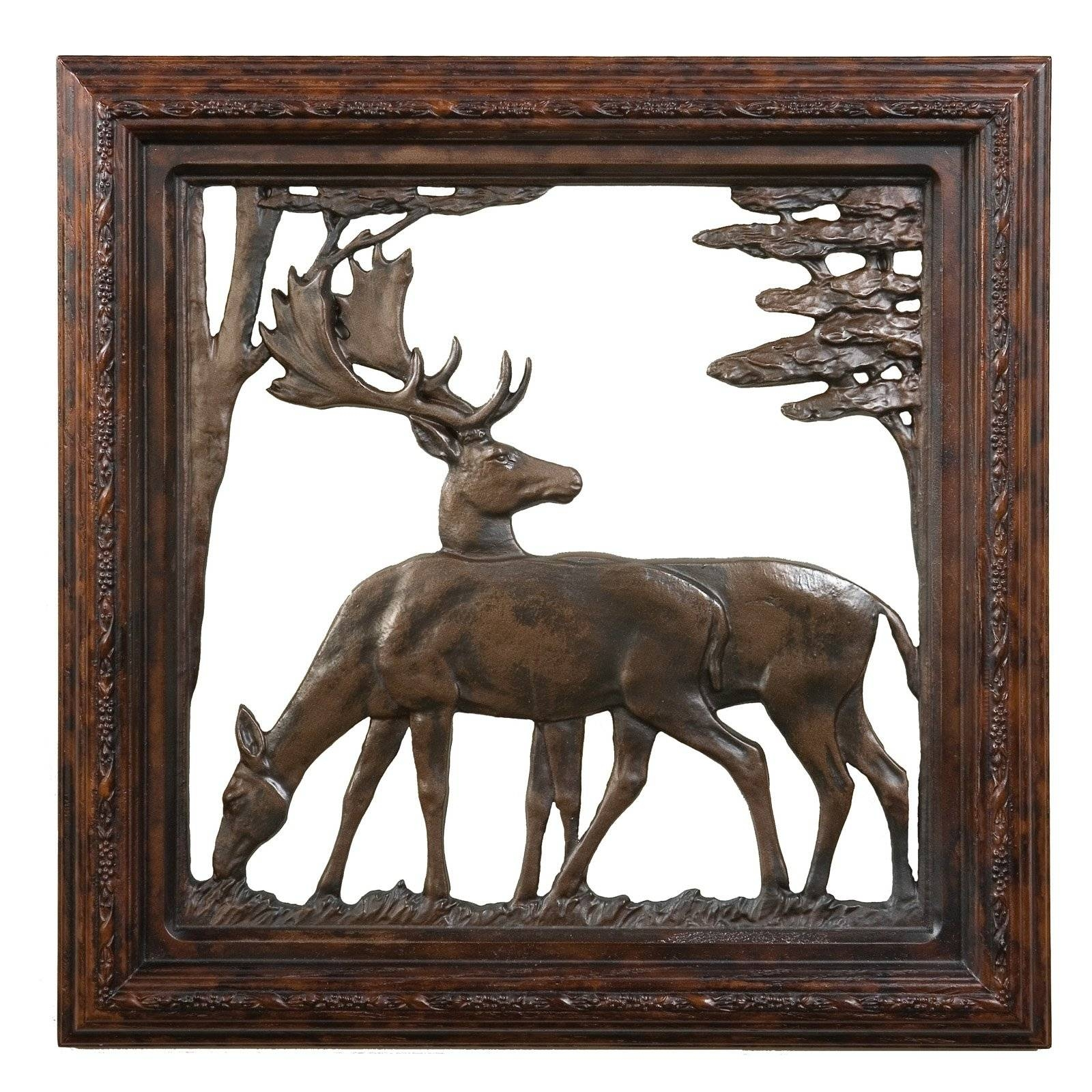 Oklahoma Casting Trophy Stag Antler Wall Art – Walmart Regarding Best And Newest Walmart Framed Art (View 12 of 20)