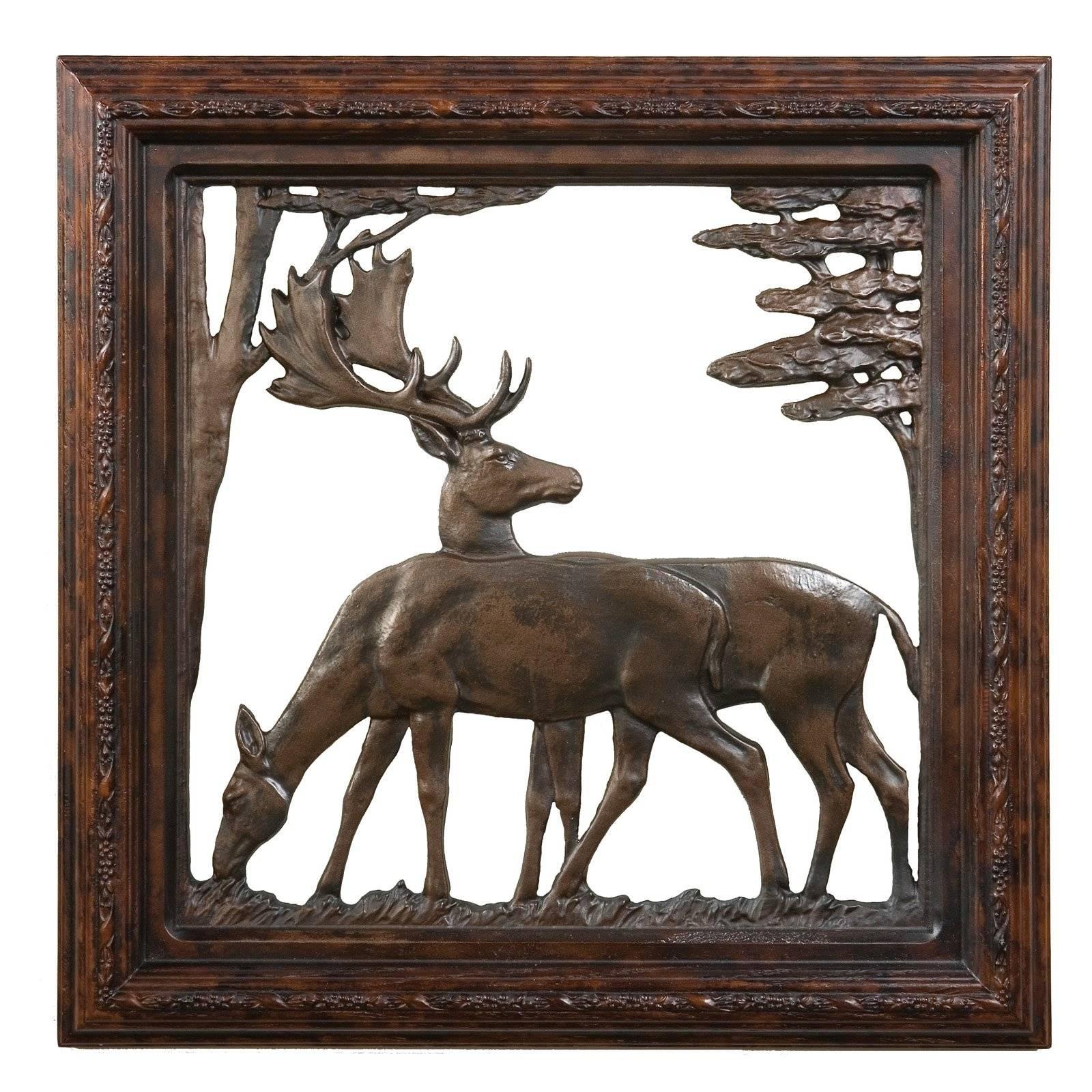 Oklahoma Casting Trophy Stag Antler Wall Art – Walmart Regarding Best And Newest Walmart Framed Art (Gallery 20 of 20)