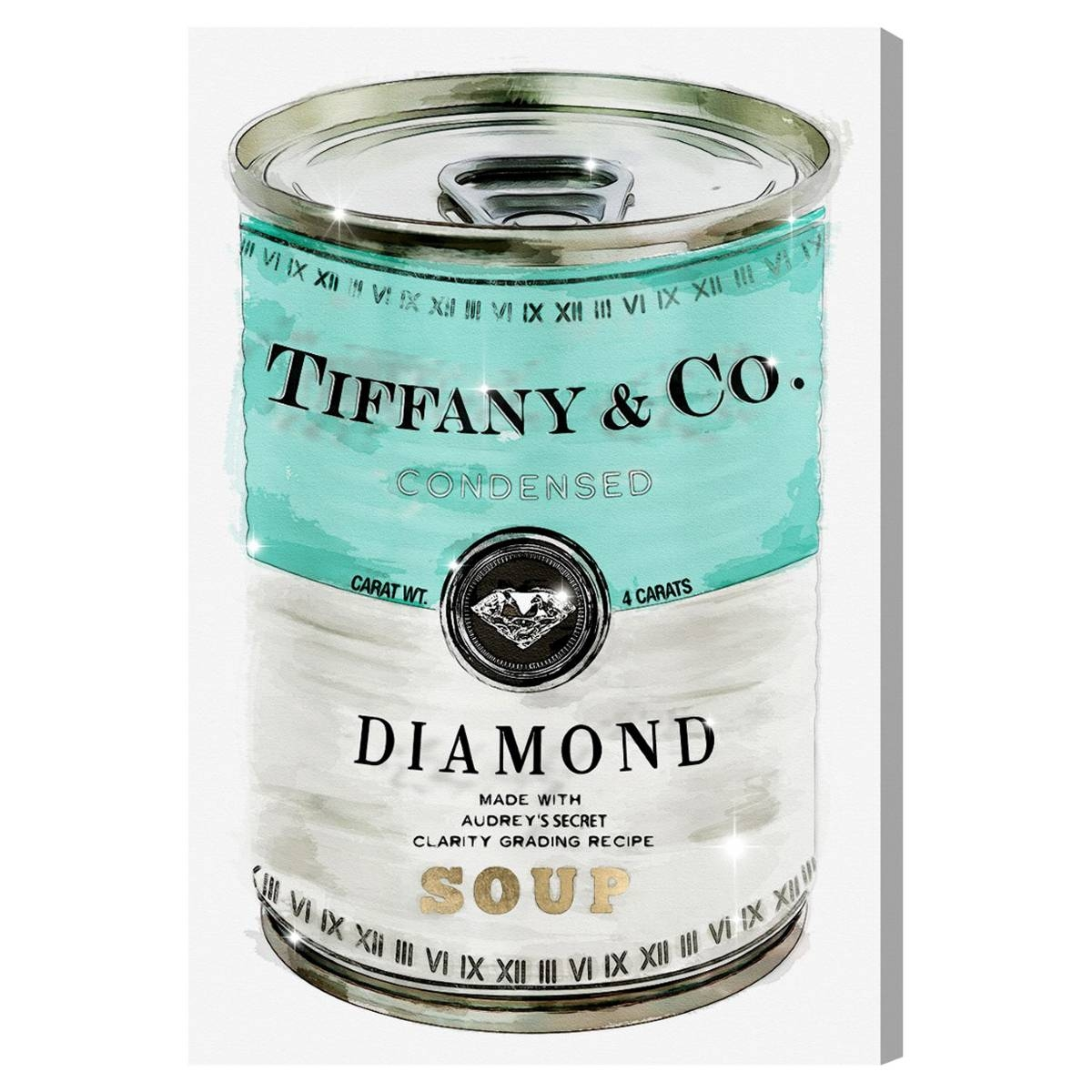 Oliver Gal Priceless Can Canvas Wall Art For Most Popular Tiffany And Co Wall Art (View 14 of 30)
