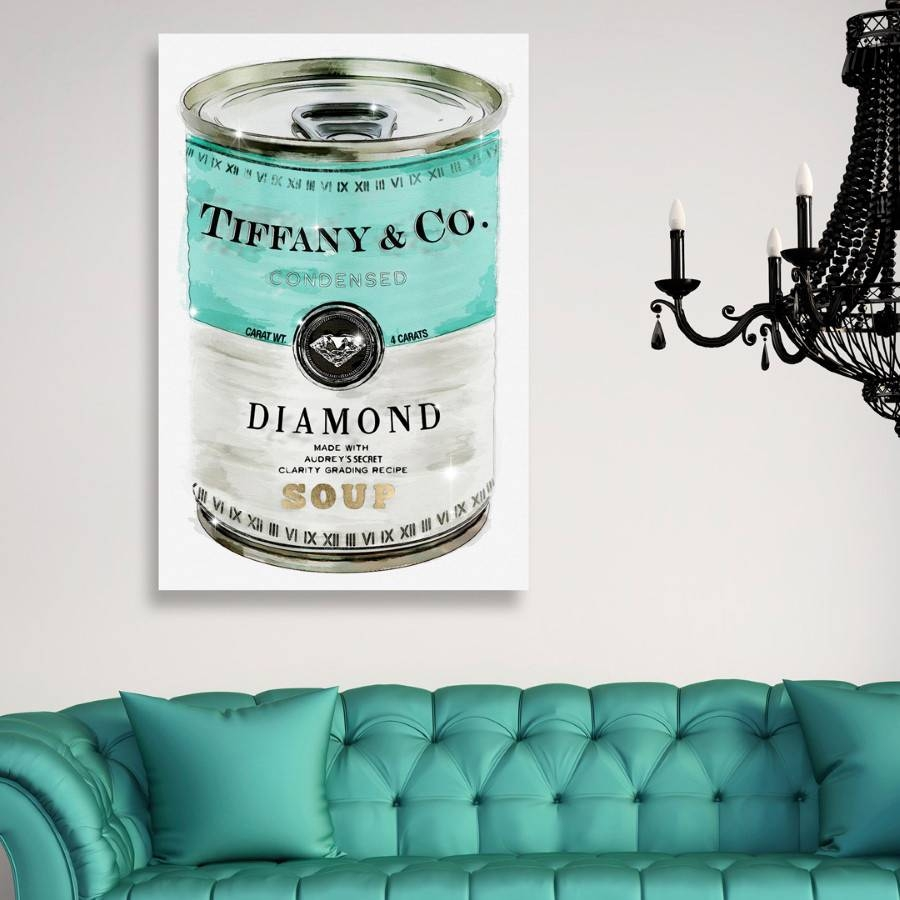 Oliver Gal Priceless Can Canvas Wall Art Regarding Recent Tiffany And Co Wall Art (View 15 of 30)
