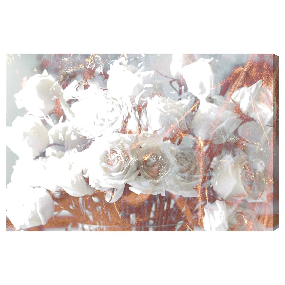 Oliver Gal Rose Gold Feast Canvas Wall Art With Most Current Rose Canvas Wall Art (View 13 of 20)