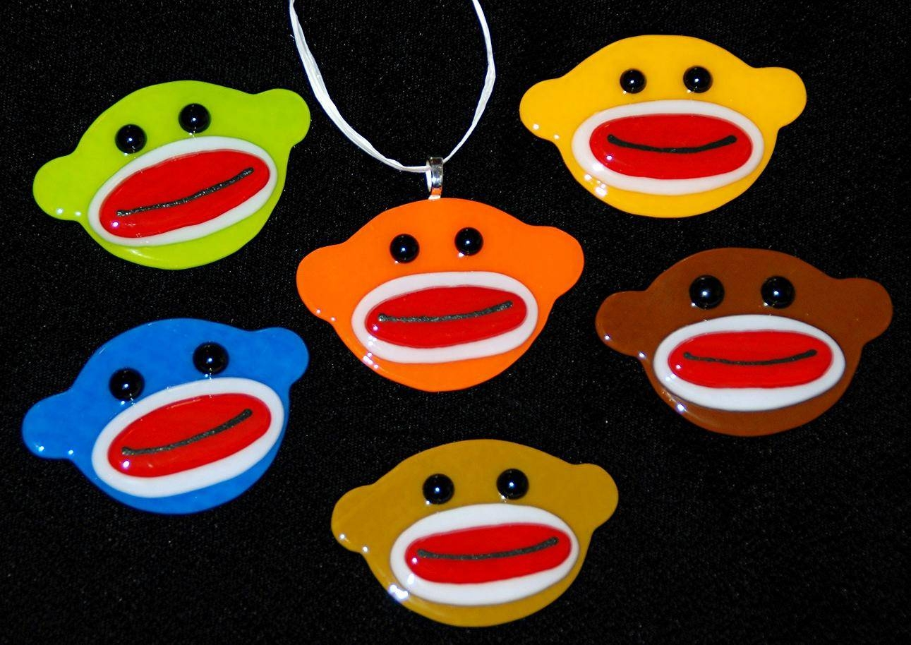 Omega Glass: Fused Glass Art That's Ridiculously Cool With Regard To 2018 Sock Monkey Wall Art (View 21 of 30)