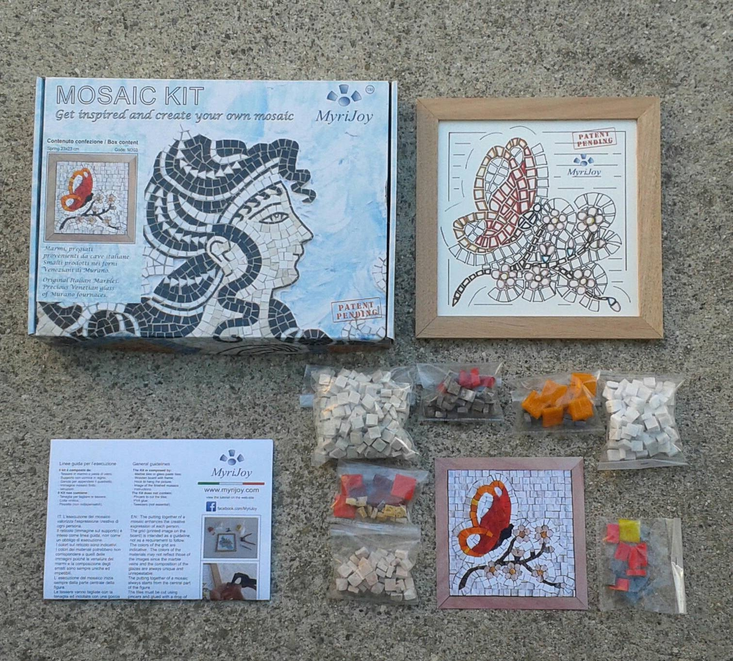 One Of A Kind Gift Mosaic Art Kit Four Seasons Spring – Crafts For Intended For Most Recently Released Mosaic Art Kits For Adults (View 10 of 20)